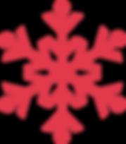rojo del copo de nieve