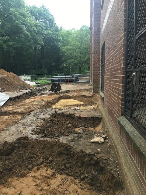 """Digging up to 24"""" deep along building foundations"""