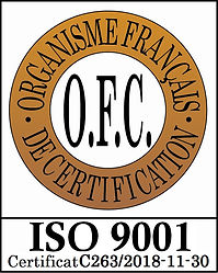 Logo OFC ISO 9001 C263-2018-11-30 (avec