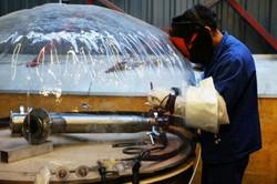Soudure sous cloche gaz inerte sur tuyauterie Titane