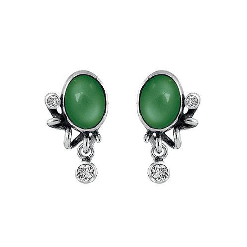 Rabinovich Glamorous Green Oorbellen