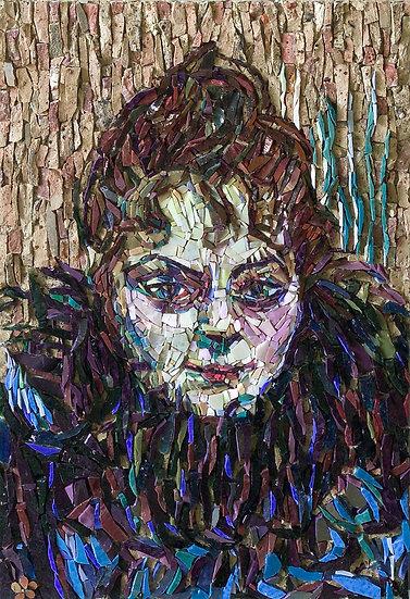 """""""La femme au Boa """" Hommage à Toulouse Lautrec"""