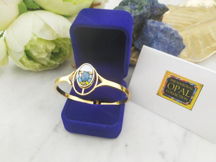Bracelet doubles ovales Opale d'Australie