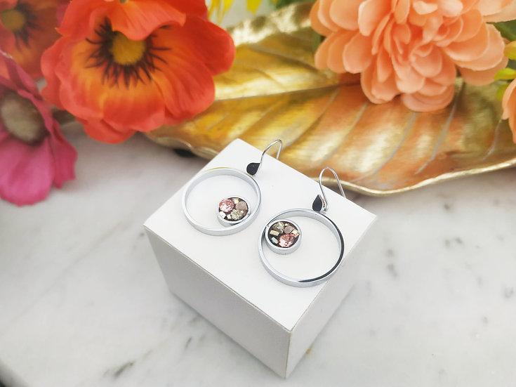 Boucles d'oreilles double circle