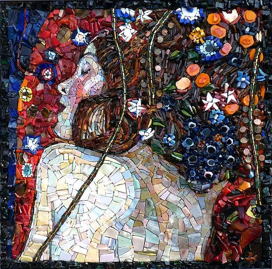 """Hommage à Klimt """"Serpents d'eau"""" (détail)"""
