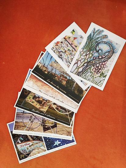 """Pochette de 7 cartes postales """"Plassac, village de mosaïques"""""""
