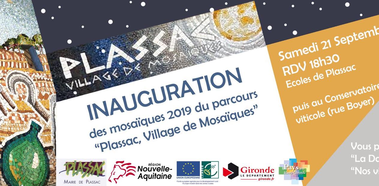 Plassac, village de mosaïques 2019 - Inauguration des nouvelles oeuvres