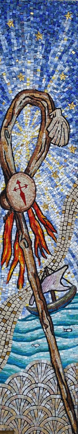 mosaïque St jacques de Compostelle Babylon Mosaic Cartelègue