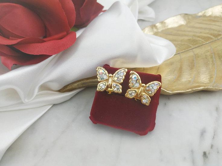 Boucles d'oreilles papillon clip