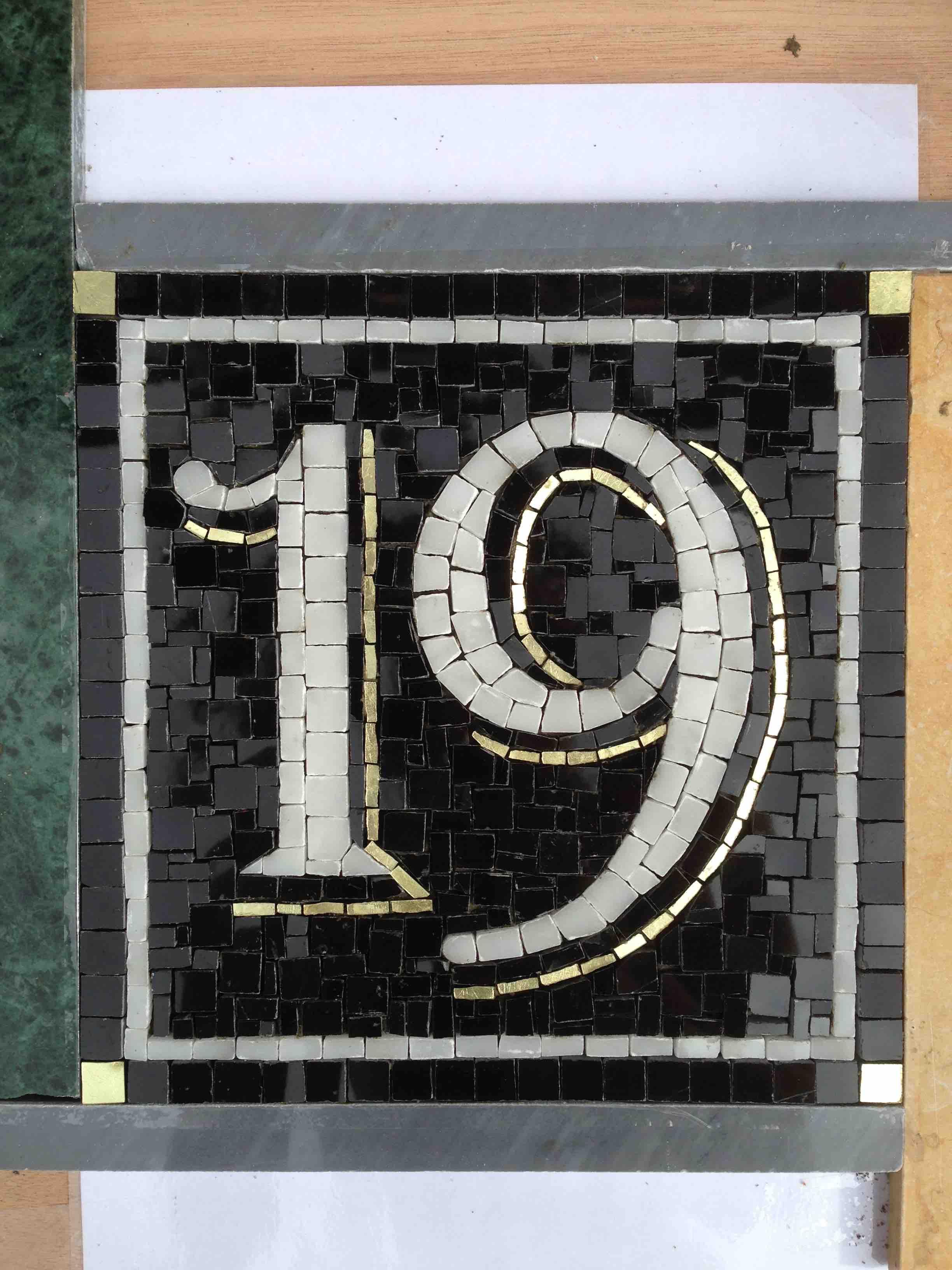 numero 19 mosaïque