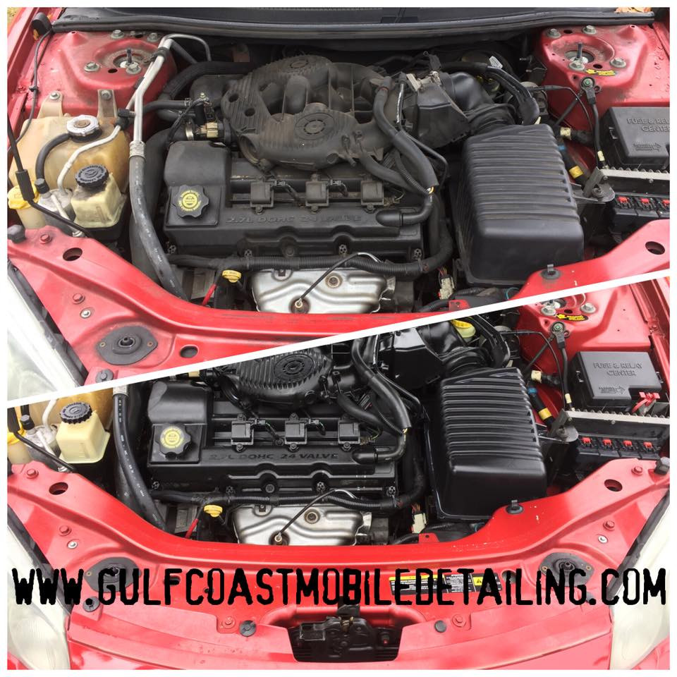 engine bay detail engine cleaning
