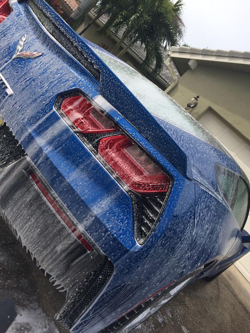 Corvette wash detailing