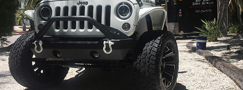 Jeep detailing truck detail