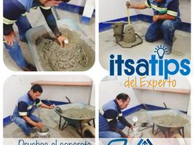 Aceptación de concreto fresco en obra