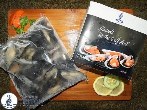 Frozen Half Shell Blue Mussels (冷凍紫贻贝) $/pack