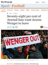 Dear Arsenal Supporters Trust: Eat a Dick You Media Whore Trash! Dear Telegraph: You Sorry Bottom Fe