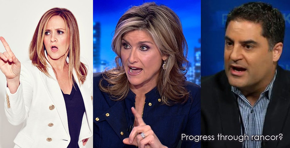 Samantha Bee, Ashleigh Banfield, Cenk Uygur