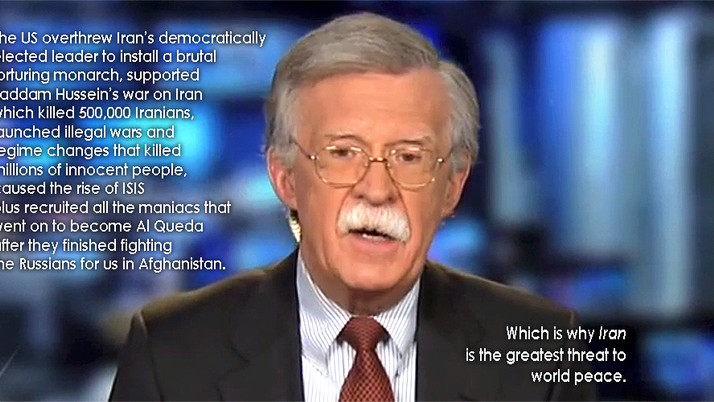 Former UN Pro-War Crusader and Human Swiffer Sweeper John Bolton Wants to Derail Iran Nuclear Deal.