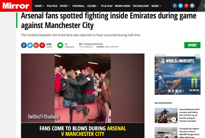 Poor Arsenal; The Best Team in England has The Worst Fans in the World