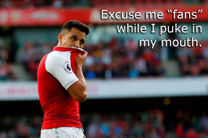 Self-Hating Arsenal Fans Boo Alexis for... Being their Best Player?