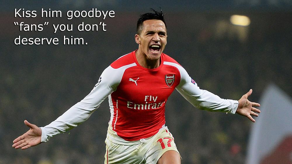 Sanchez saves club; fans turn around and destroy it.