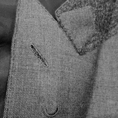 Flower Loop, Hand Stitched Lapel and Button Hole