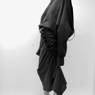 "concept 3 ""ONE-PIECE-OF-CLOTH"" Bias-cut Skirt_01"