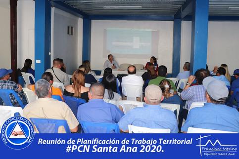Planificación de trabajo territorial con Alcaldes, Regidores, Regidoras, Líderes y Lideresas delPCN