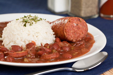 New Orleans cajun style red beans and ri