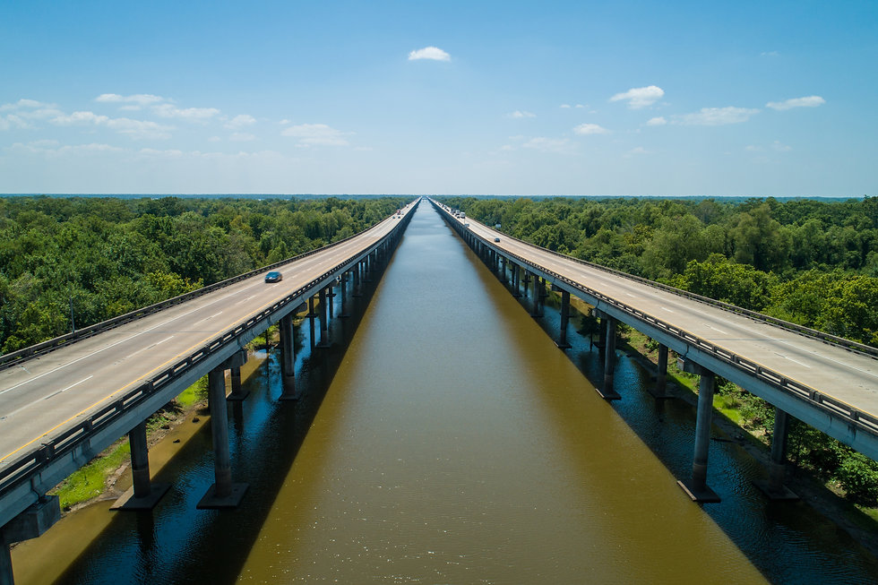 Aerial drone photo of the I10 over the A