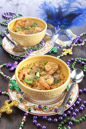 Mardi Gras Dinner With Shrimp