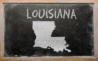 drawing of american state of louisiana o