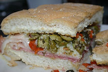 Muffaletta w_ Centaral Grocery Olive Mix