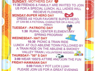May Special Events