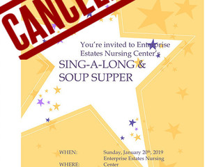 SIng-A-Long Soup Supper CANCELLED