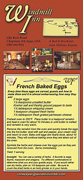 Windmill Inn Bed and Breakfast Rack Card back