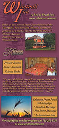 Windmill Inn Bed and Breakfast Rack Card Front