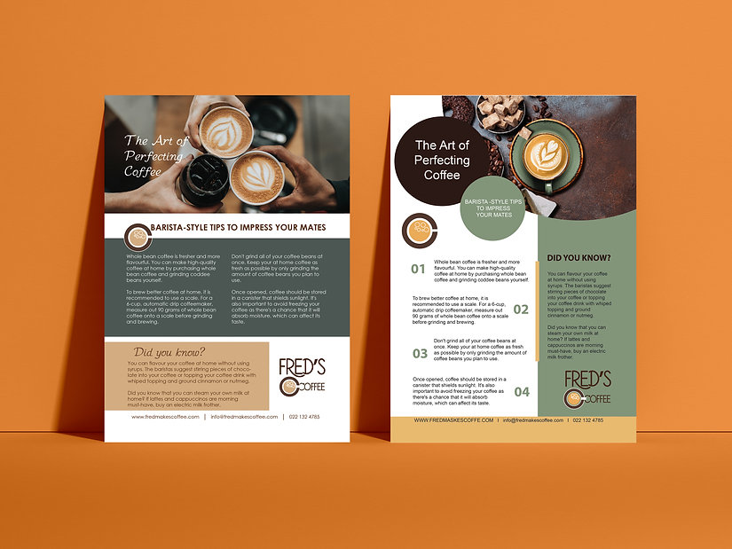 Advertising Front View Poster Mockup cof