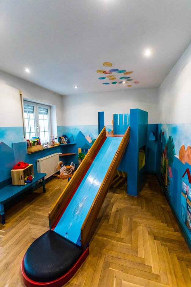 Das Spielzimmer im Erdgeschoss