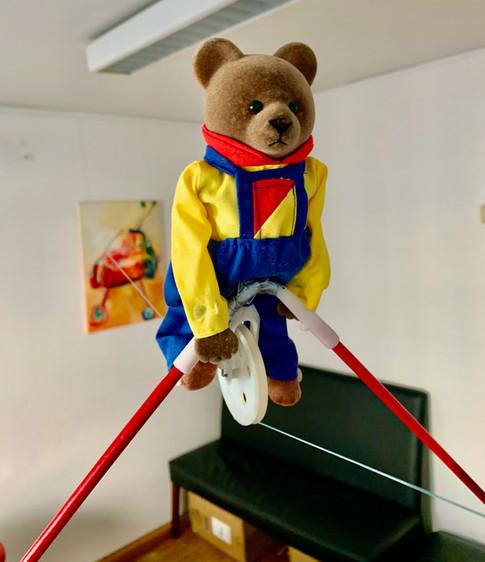 Der 'Fliegende Bär' im Echokardigraphie-Zimmer 5