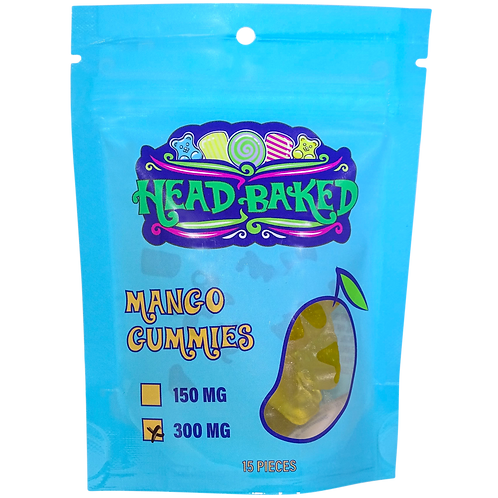 Head Baked 300mg CBD Mango Gummies