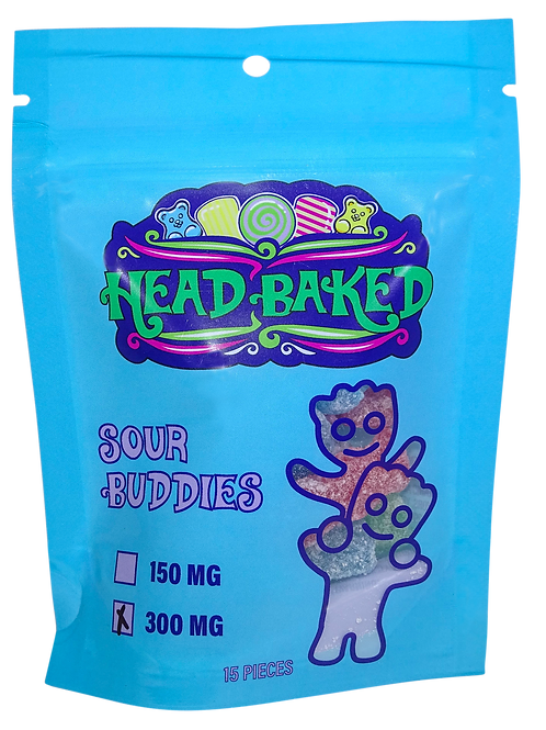 Head Baked 300mg Sour Buddies