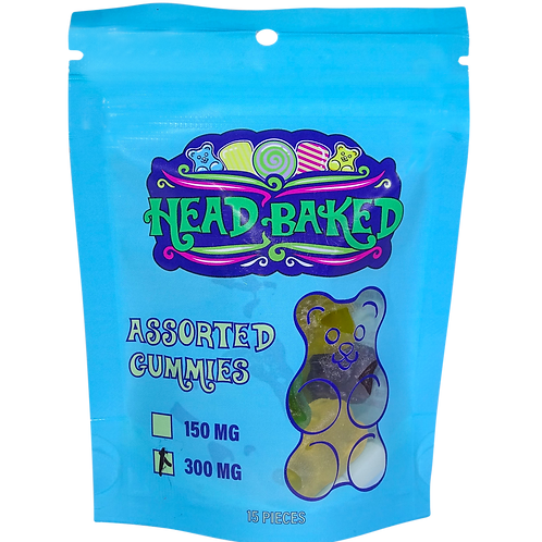 Head Baked 300mg CBD Assorted Gummies