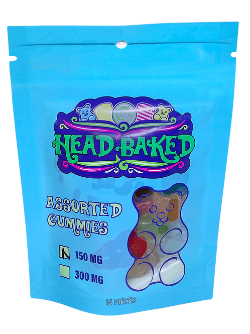 Head Baked 150mg CBD Assorted Gummies