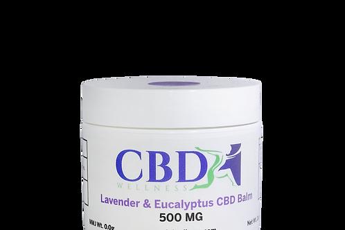 500mg Lavender & Eucalyptus Topical Balm (2oz)