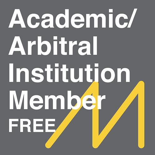 Academic/Arbitral Institution Member - FREE
