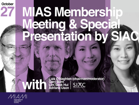 MIAS Membership Meeting and Special Presentation by SIAC