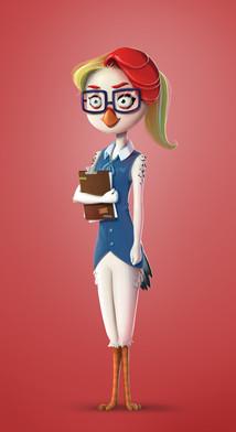 hen-secretary-character-design