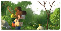 kid-butterfly-nature-illustration