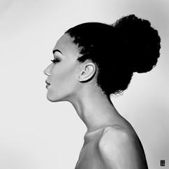 black-woman-neck-portrait-painting